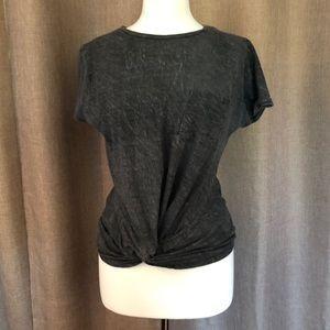 Deep Gray Francesca's Knot Shirt